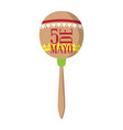 isolated mexican maraca cinco de mayo vector image