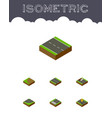 isometric way set of navigation turning repairs vector image vector image