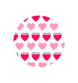 love heart logo background love heart logo vector image vector image