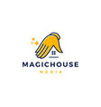 magic house logo icon vector image vector image
