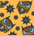 owl colorful background vector image vector image