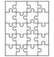 parts white puzzle vector image vector image
