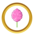 Pink cotton candy icon vector image