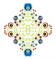 Polish folk inspired pattern vector image vector image