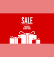 sale offer of discount for shoppings further vector image vector image