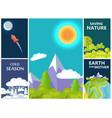 Saving nature mother earth and cold season set