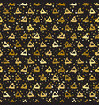 seamless pattern triangles vector image