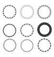 set abstract star circle icon on white background vector image vector image