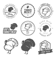 Set of premium turkey meat labels and stamps vector image