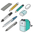 set stationery vector image