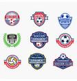 sports logo badges 3 vector image vector image