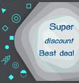 super discount best deal marketing banner vector image