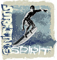 surfing spirit vector image vector image