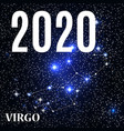 symbol virgo zodiac sign with new year and vector image