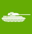 tank icon green vector image vector image