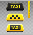 taxi sign transparent set vector image vector image