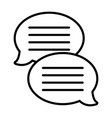 text bubble chat app black and white vector image