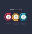 three steps infographic process chart with vector image vector image