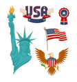 usa national symbolism color vector image vector image