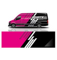 van car decal wrap design vector image vector image