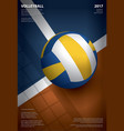 volleyball tournament poster template design vector image