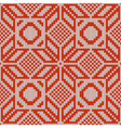 Winter Knitted Pattern 1 vector image