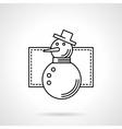 Wintertime symbol flat line icon vector image