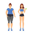 woman fat and sportive lady vector image vector image