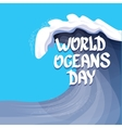 World Oceans Day background vector image vector image