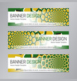 yellow green banner design web header template vector image