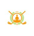 yoga golf logo icon design vector image