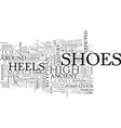 a history of heels text word cloud concept vector image vector image