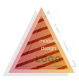 abstract colorful triangle dynamic splash liquid vector image vector image