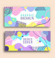 abstract pastel color shape set vector image