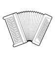 Accordion icon outline style vector image vector image