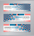 blue red banner design web header template vector image