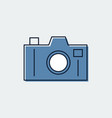 camera line flat icongraphic design vector image