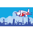 Cartoon Plane vector image vector image