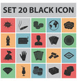 casino and gambling black icons in set collection vector image