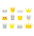 collection crown awards for winners champions vector image
