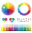 color halftone effects vector image vector image