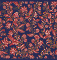 colorful seamless pattern hand drawn floral vector image vector image