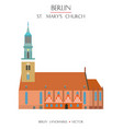 colorful st mary church vector image vector image