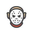 crazy maniac halloween mask cartoon vector image vector image