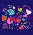 Cute love design elements vector image