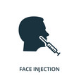 face injection icon from plastic surgery vector image vector image