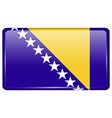 Flags Bosnia and Herzegovina in the form of a vector image