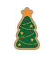 flat icon on white background Christmas tree vector image vector image