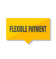 flexible payment price tag vector image vector image