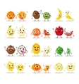 Funny cartoon fruit characters isolated Big cute vector image vector image